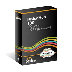 Peplink FusionHub 100, Supports 100 peers, 100 Mbps Throughp
