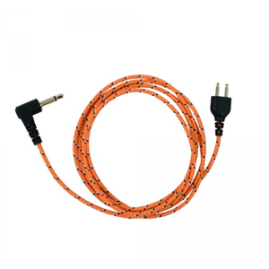 ProEquip Orange fabric cable for Peltor, 3,5mm - 1,25m - 2-p