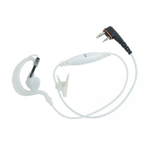 ProEquip PRO-P240LP White headset with inline mic & C-Shell,