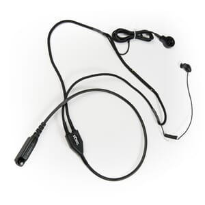 In-ear tactical headset with ring PTT