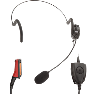 STP8X Lightweight boom headset with PTT.(Connects direct to