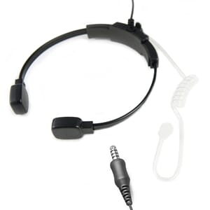 ProEquip Acoustic Earphone w Throat Mic - 4 Pole Nexus - Pel