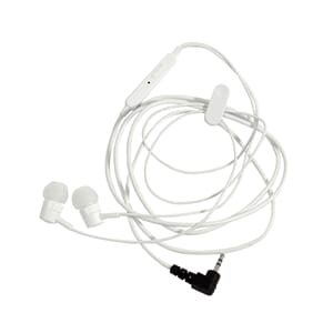 ProEquip Stereo Headset cellphone type, White with rubbertip