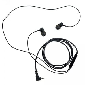 ProEquip Stereo Headset cellphone type, Black with rubbertip
