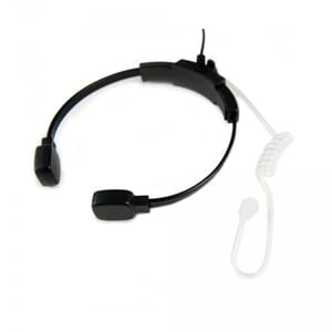 ProEquip Acoustic Earphone w Throat Mic - 2.5 mm plug - Larg