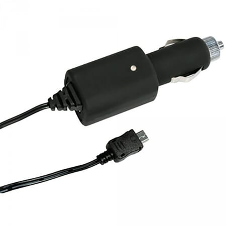 ProEquip Cigg charger with USB connection (Micro-B USB type,