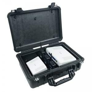 Icom IP-Radio Peli case, including 3xIP100C, IP1000C, AP-90M
