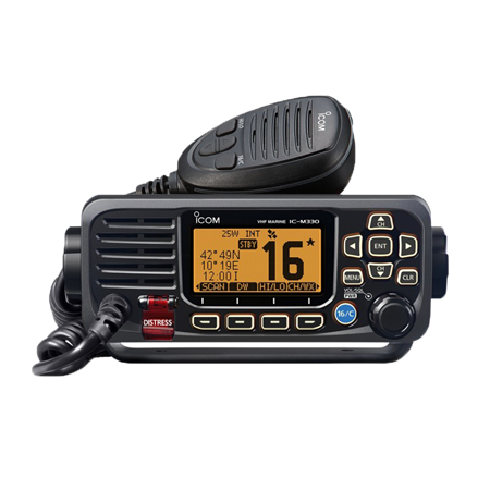 Icom IC-M330GE #35 Marine VHF Black with GPS (external ant)